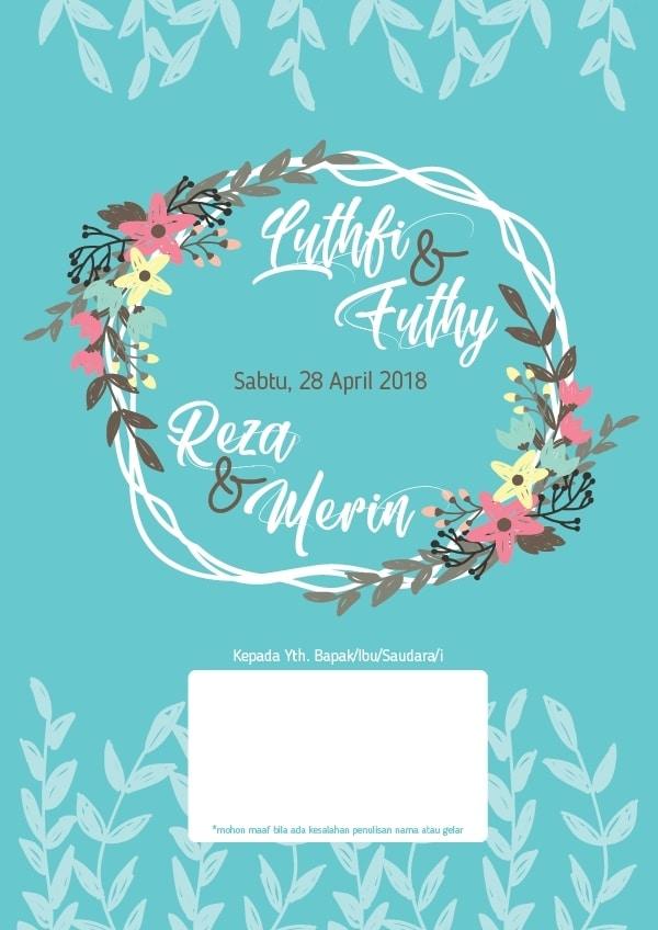 diy by reisha desain undangan pernikahan dan buku tamu dua pasang pengantin reisha desain undangan pernikahan