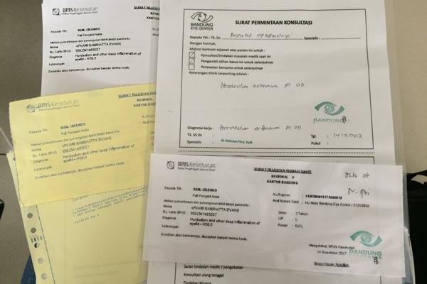 pendaftaran pasien baru di RS Cicendo