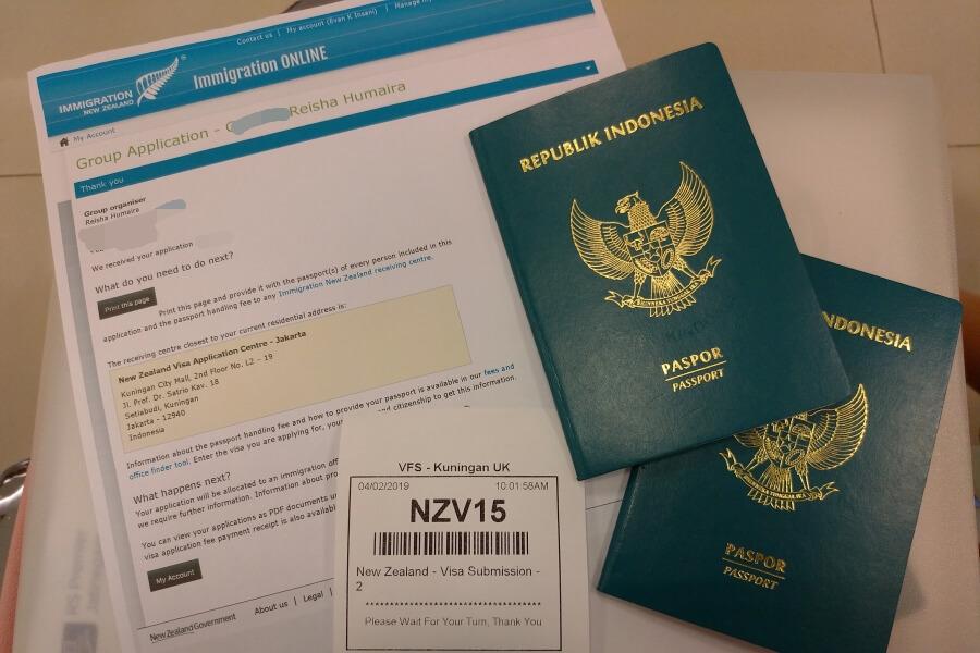 mengurus visa new zealand