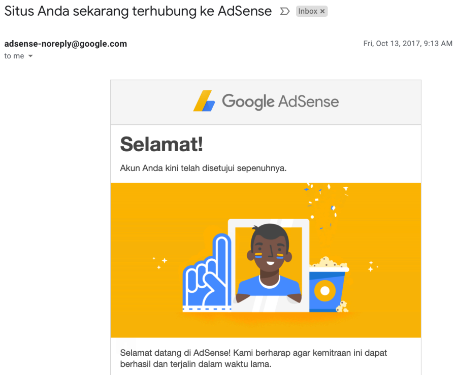 pengalaman google adsense