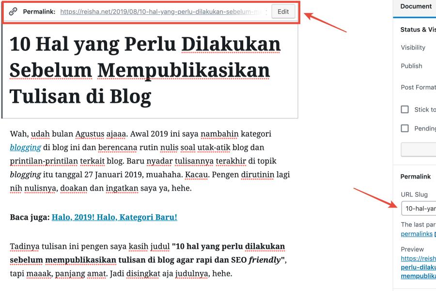 custom URL wordpress