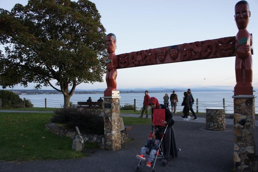maori carving gate