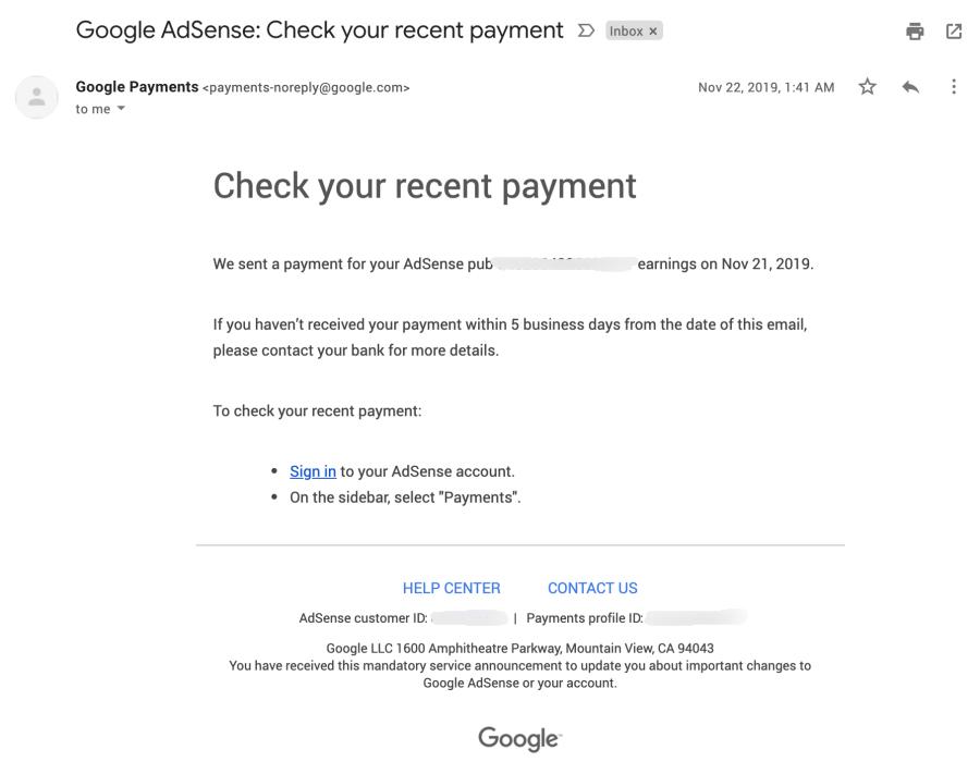 email gajian google adsense