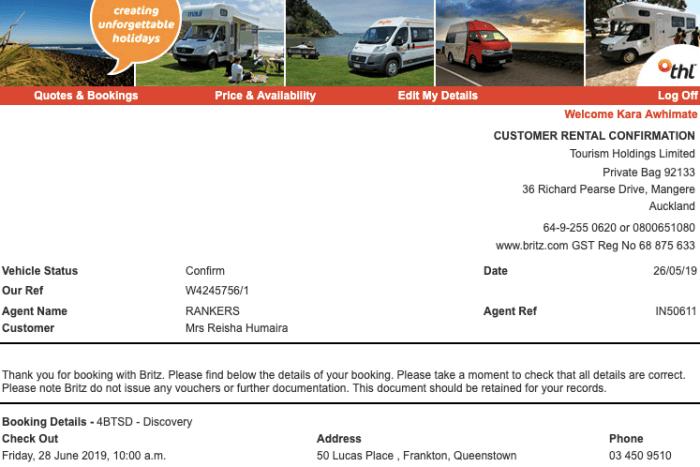 konfirmasi booking campervan