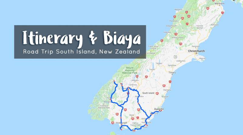 itinerary biaya road trip south island nz