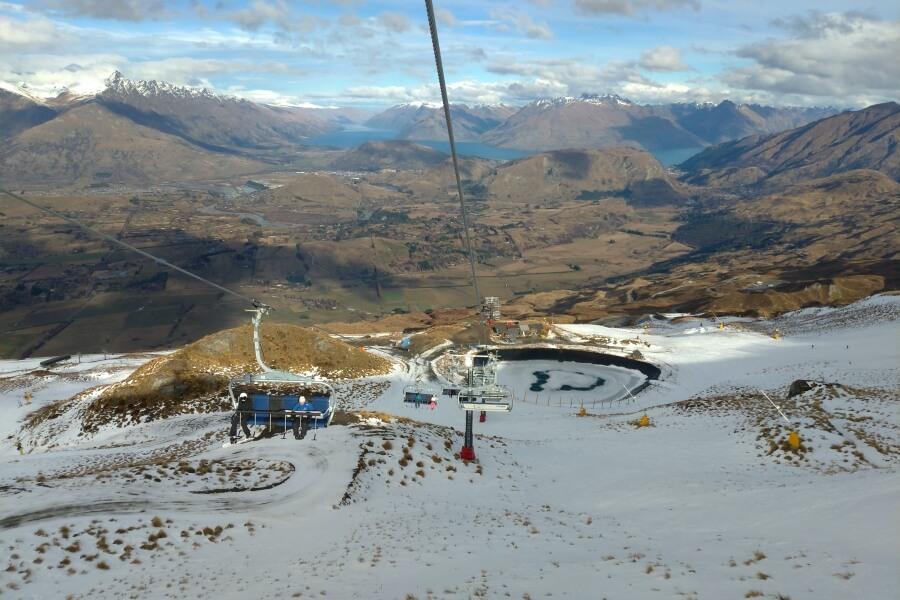 coronet peak di musim dingin