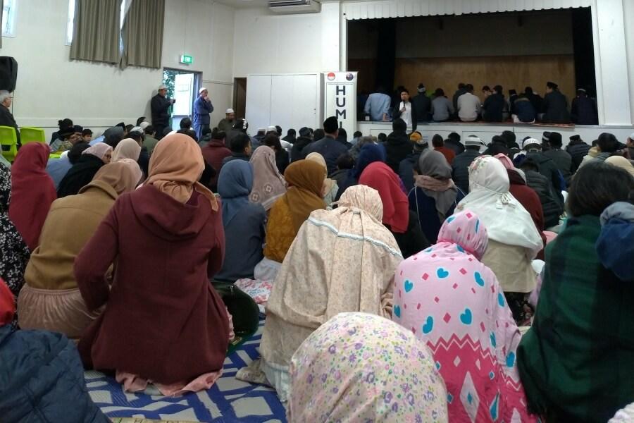 Suasana shalat Idul Adha di Auckland