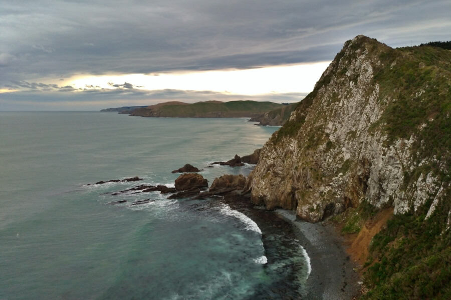 view dari Nugget Point Lighthouse