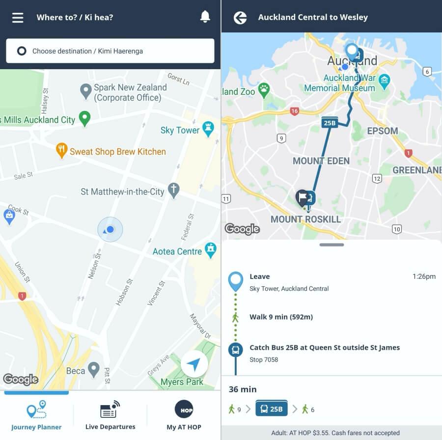 mencari rute dengan aplikasi AT Mobile