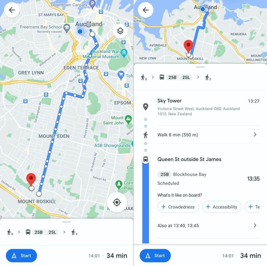 mencari rute dengan google maps