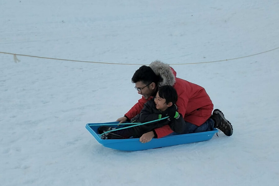 main toboggan atau sled