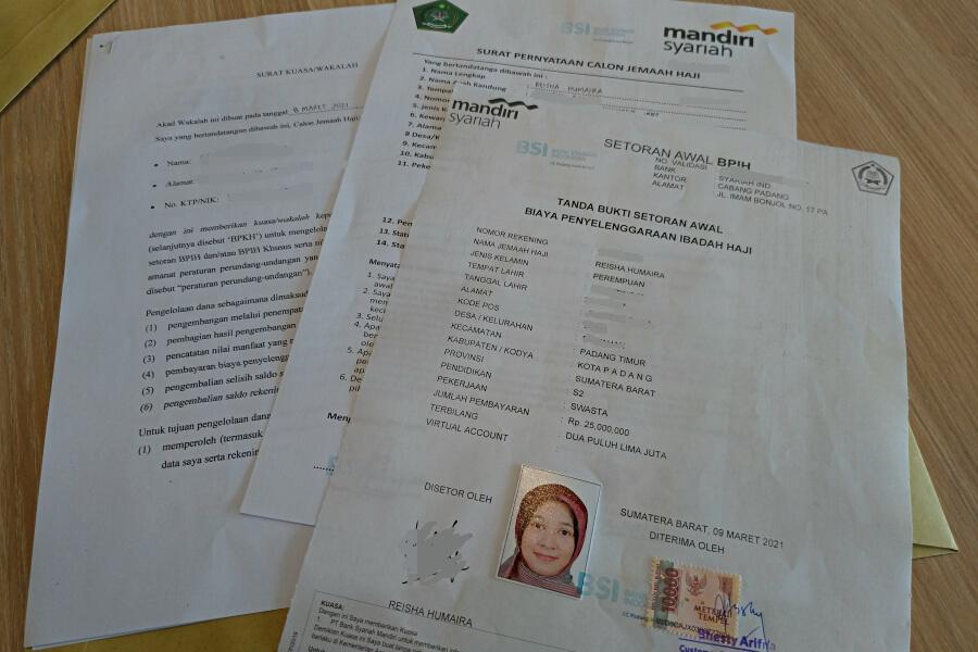 dokumen validasi pendaftaran haji dari bank syariah indonesia