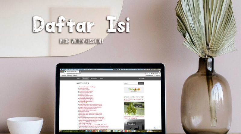 cara membuat daftar isi blog wordpress.com