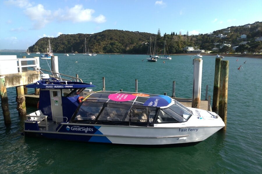 ferry paihia russell new zealand