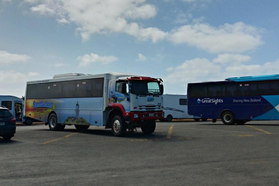 bus sand safari new zealand