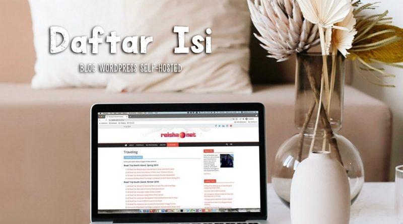 cara membuat daftar isi blog wordpress self hosted